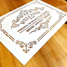 1pc A4, Home Sweet Home Template,Welcome Stencil for Furniture painting,Craft Projects,Home Decor, #760