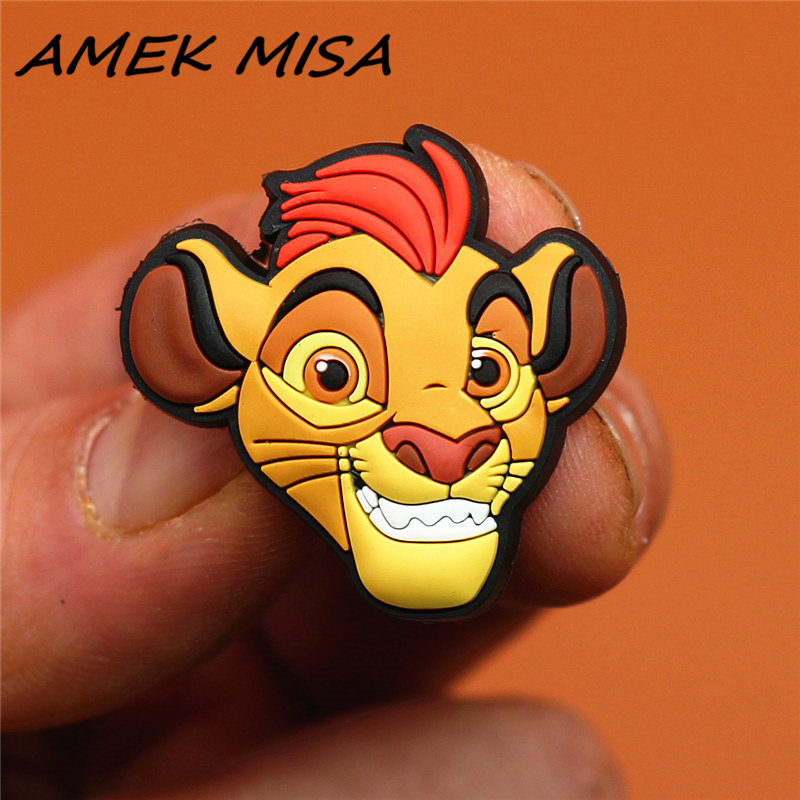 Novel Single Sale The Lion King Shoe Charms Accessories Cartoon Simba Garden Shoe Decoration Fit For Croc Jibz Kid's X-mas Gifts