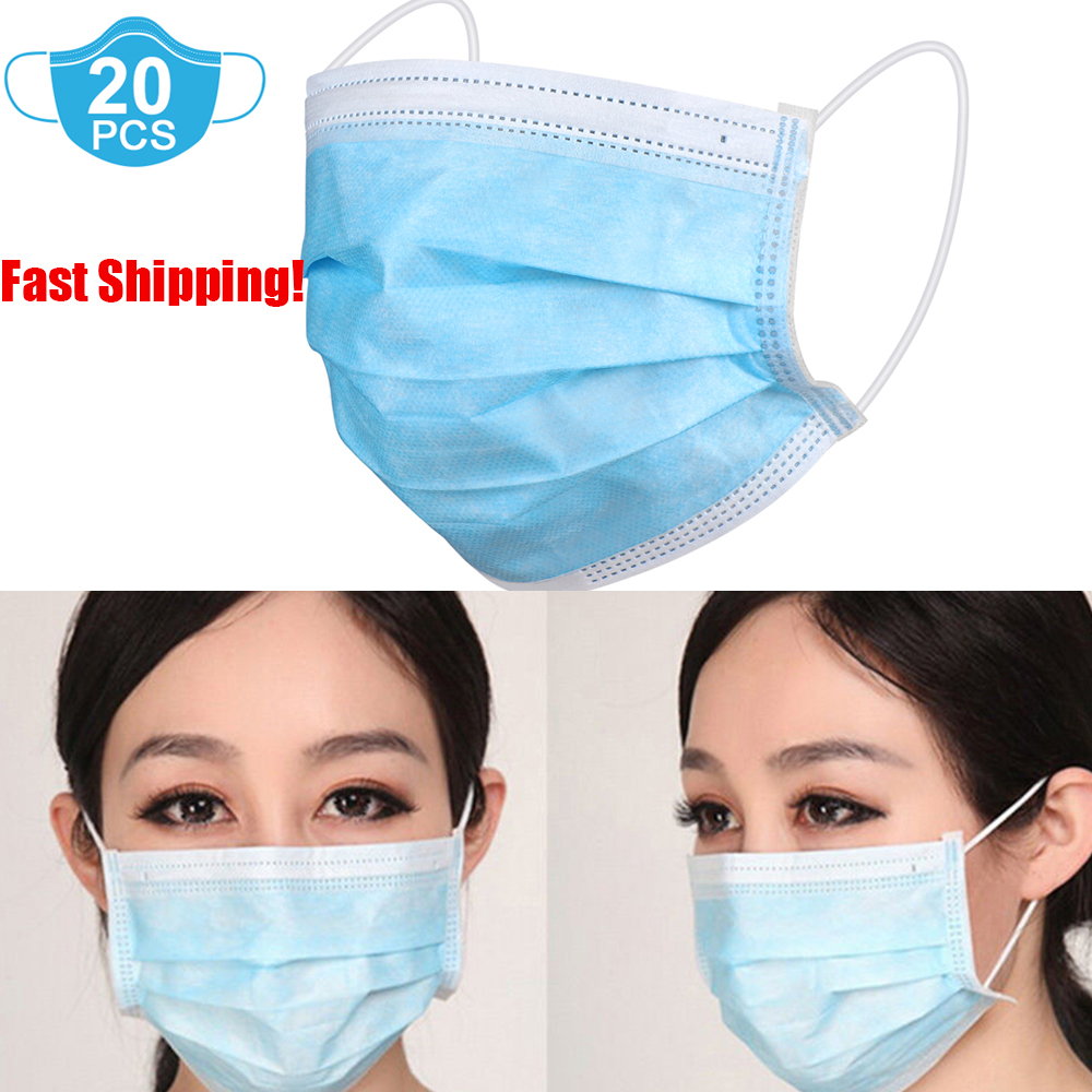 disposable earloop face mask filters bacteria