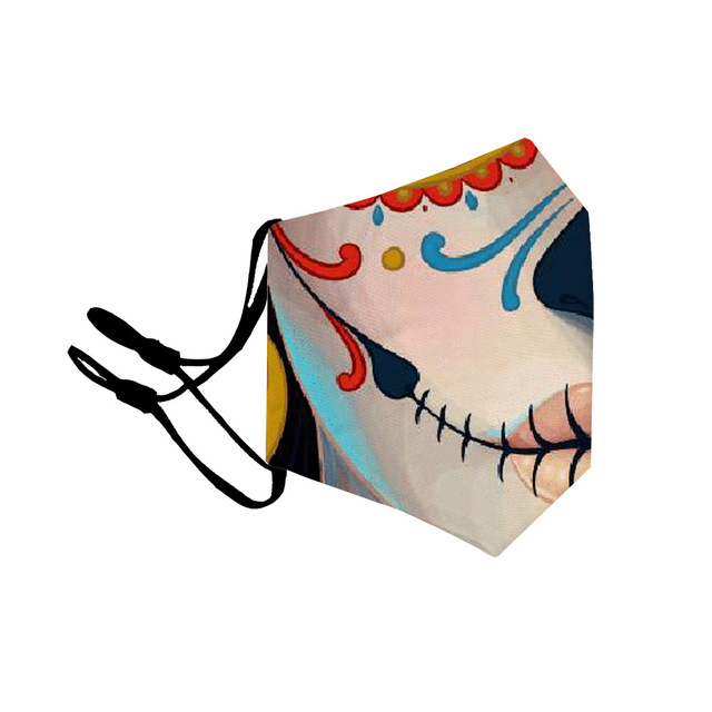 Adult Kids Colorful Printing mouth Mask Reusable Protective PM2.5 Filter Paper Mask anti dust Face mask bacteria proof Flu Mask 2