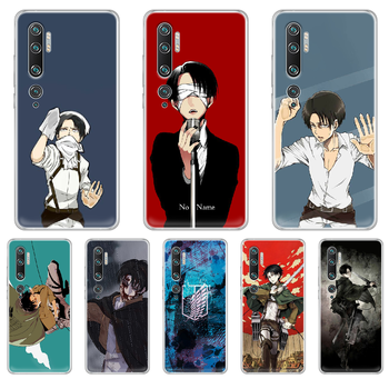 Attack on Titan Levi Rival Phone Case cover hull For XIAOMI MI 3 4 5 5X 8 9 10 se max pro a2 9T note lite transparent cover image
