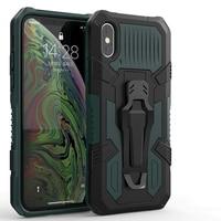 Funda de teléfono con soporte para Huawei Prime 2018 2019 Nova 2 Lite Y6S Y5 Y6 Y7 Y9 Pro, Protección Pesada contra caídas, Mech Warrior Bring