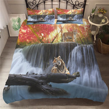 A Bedding Set 3D Printed Duvet Cover Bed Tiger Home Textiles for Adults Bedclothes with Pillowcase #LH01