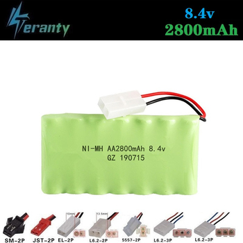2800mah 8.4v Rechargeable Battery For Rc toys Cars Tanks Robots Gun NiMH Battery AA 8.4v 2800mah Batteries Pack For Rc Boat 1PCS image