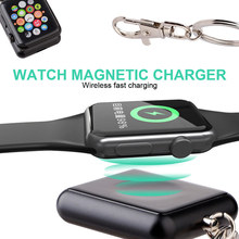 Portable Wireless Charger for iWatch 1 2 3 4 Mini KeyChain Charger for Apple Watch Wireless Charger wireless charger for apple watch 4 3 2 1 i watch charging portable adapter for apple watch 4 3 usb charger base mini 2mm cable