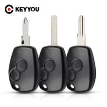 Keyyou 2 botões do carro remoto chave caso escudo para renault megan modus clio 3 kangoo twingo logan sandero duster para nissan almera