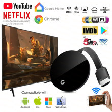 5G 5Ghz WiFi Display Dongle YouTube AirPlay Miracast TV Stick for Google Chromecast 3 2 Chrome Crome Cast Cromecast 2 ultra 4k(China)
