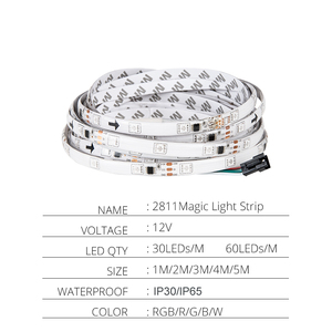 Image 2 - 5m 2811 IC 5050 RGB LED Strip Light 12V WS2811 30 LEDs/m Pixels Programmable Individual Addressable Diode Tape Lamp TV Backlight