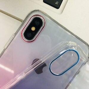 Image 4 - מזג זכוכית מתכת שיפוע צבעוני שקוף קשיח דק טלפון מקרה עבור iPhone XS Max XR X 10 8 7 6 6s בתוספת בחזרה מקרי כיסוי