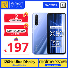 realme X50 X 50 5G Versión global 6GB 128GB 6.57'' Smartphone Snapdragon 765G 120Hz Ultra Display 48MP Quad Cams Cellphone 30W; code: X50REALME30(off €30)