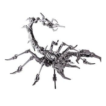 عقرب الملك ثلاثية الأبعاد الفولاذ المقاوم للصدأ DIY بها بنفسك تجميع نموذج انفصال لغز الحلي نموذج بناء مجموعات الاطفال الرجال هدية