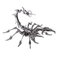 Scorpion King 3D Edelstahl DIY Montieren Abnehmbare Modell Puzzle Ornamente Modell Gebäude Kits Kinder Männer Geschenk