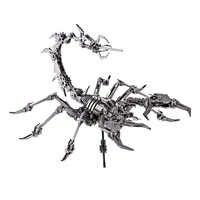 Scorpion King 3D Stainless Steel DIY Assemble Detachable Model Puzzle Ornaments Model Building Kits Kids Men Gift