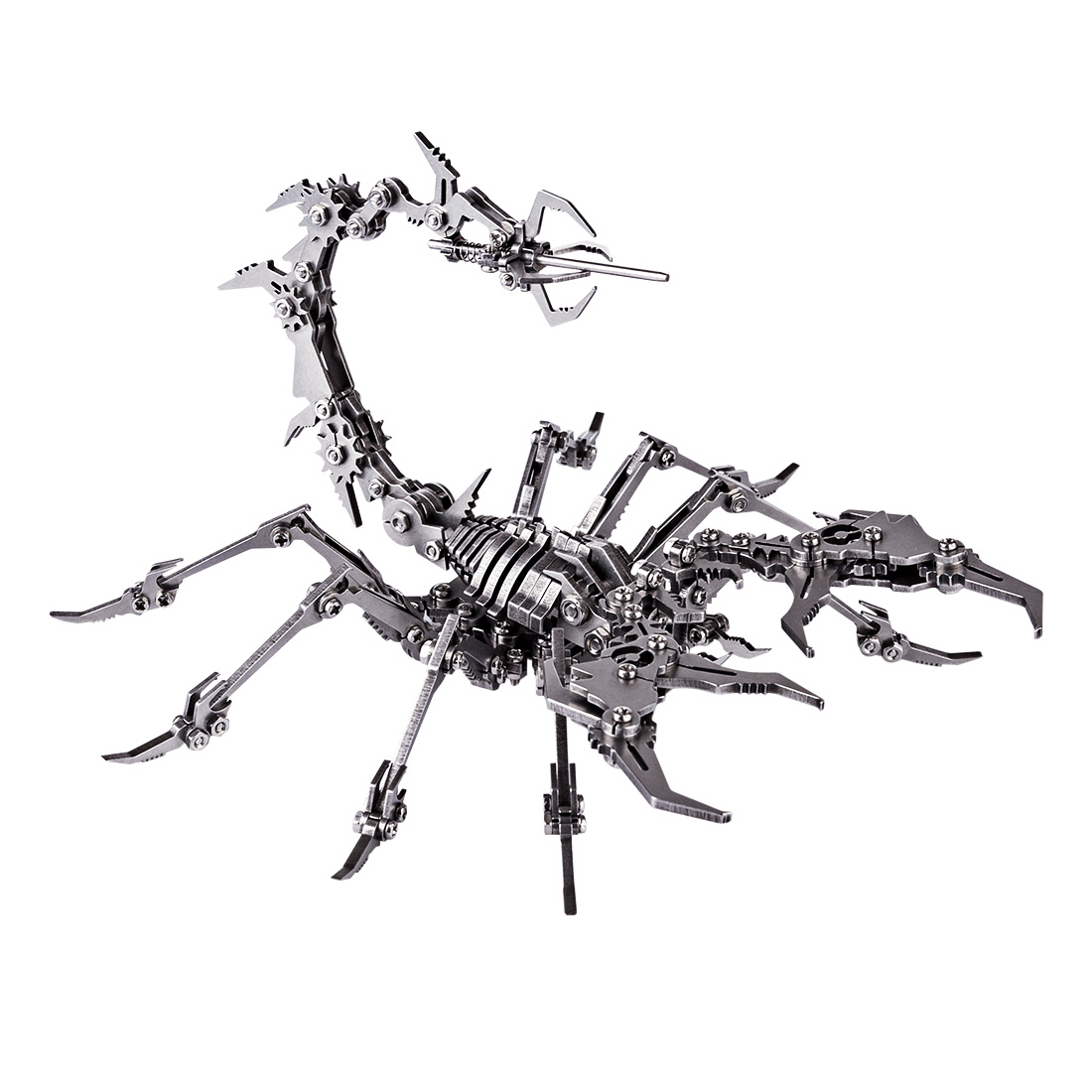 Scorpion King Model Assembly Kit 3D Stainless Steel DIY Assemble Detachable Models Puzzle Toys Ornaments Kids Men Gift Silver
