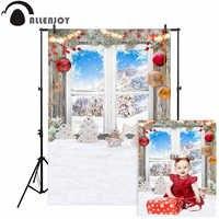 Allenjoy Weihnachten fenster fotografie hintergrund lebkuchen schneeflocke winter hintergrund photo foto-shooting photobooth benutzerdefinierte