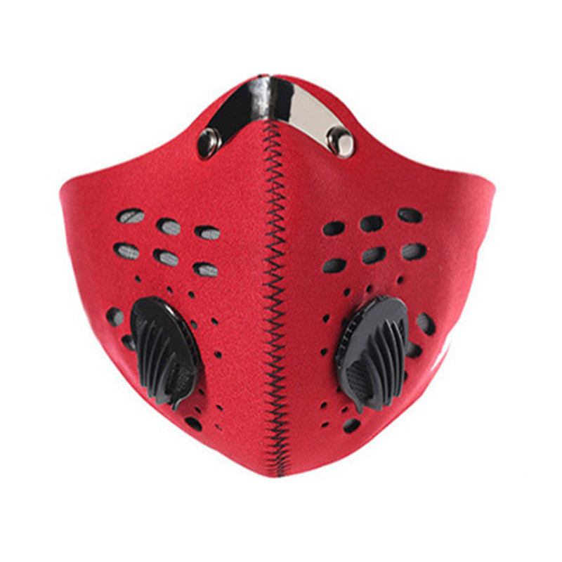 Cotton PM2.5 Anti Haze Mask Carbon Filter Respirator Mouth-muffle Black Mask Face Breath Valve Anti-dust Mouth Mask Activated