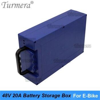Caja de almacenamiento de batería de 48V y 20Ah para bicicleta eléctrica, de mano para contenedor vacío 18650 3,7 V batería de litio o 3,2 V 32700 Lifepo4, uso de Turmera 1