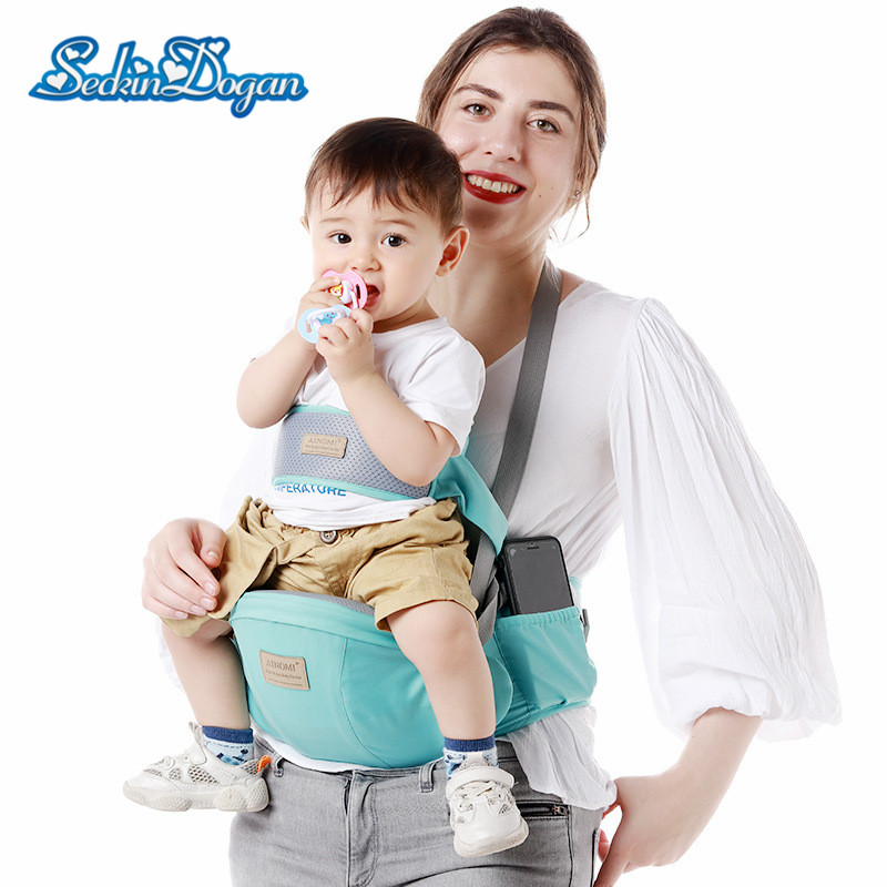 SeckinDogan Baby Carriers Anti-slip Toddlers Chair Comfortable Newborn Hip Seat Outdoor Travel Baby Carrier Wrap Stool