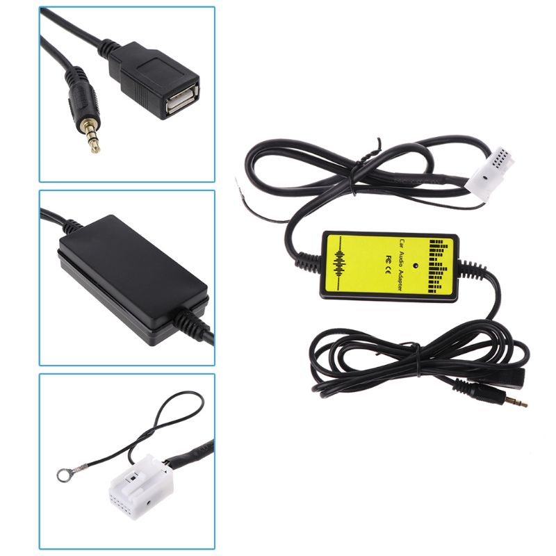 Car USB Aux in CD Adapter MP3 Player Radio Interface 12 Pin For Seat in Cables Adapters Sockets from Automobiles Motorcycles