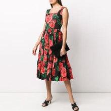 Женское подиумное платье на бретельках gedivoen летнее с открытой