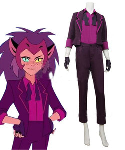 Cosplaydiy Anime She-Ra and the Princesses of Power Catra New Cosplay Costume Adult Suit L320(China)