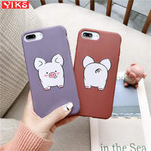Lovely Pet Pig Candy Color 3D Emboss Soft TPU Phone Case For iPhone X XR XS 11 Pro Max 8 7 6 6S Plus Cover Fundas Etui Coque(China)