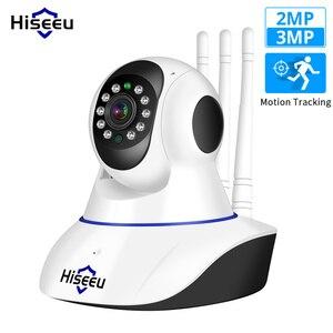 Image 1 - Hiseeu Ultra HD 3MP 1080P kablosuz IP Kamera WiFi 1536P ev güvenlik gözetim Kamera CCTV bebek Kamera akıllı otomatik izleme