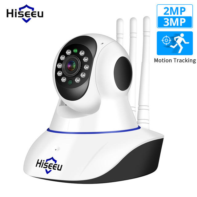 Hiseeu caméra de sécurité Ultra HD 3MP 1080P IP WiFi, sécurité domestique sans fil, Baby vidéosurveillance, suivi automatique