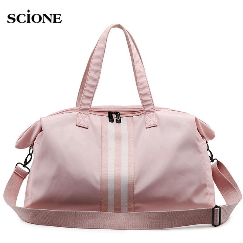 Gym Bag Women Travel Bags Training Fitness Dry Wet Bag Handbag Yoga Mat Men Shoulder Sac De Sport For Bolso Canvas 2019 XA766WA