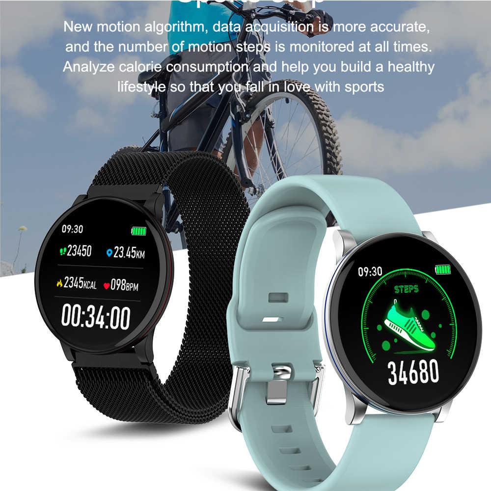 Akıllı İzle erkekler kalp hızı monitörü Smartwatch kadınlar için spor izci spor saatler Android akıllı İzle Xiaomi Pk Q9 l8