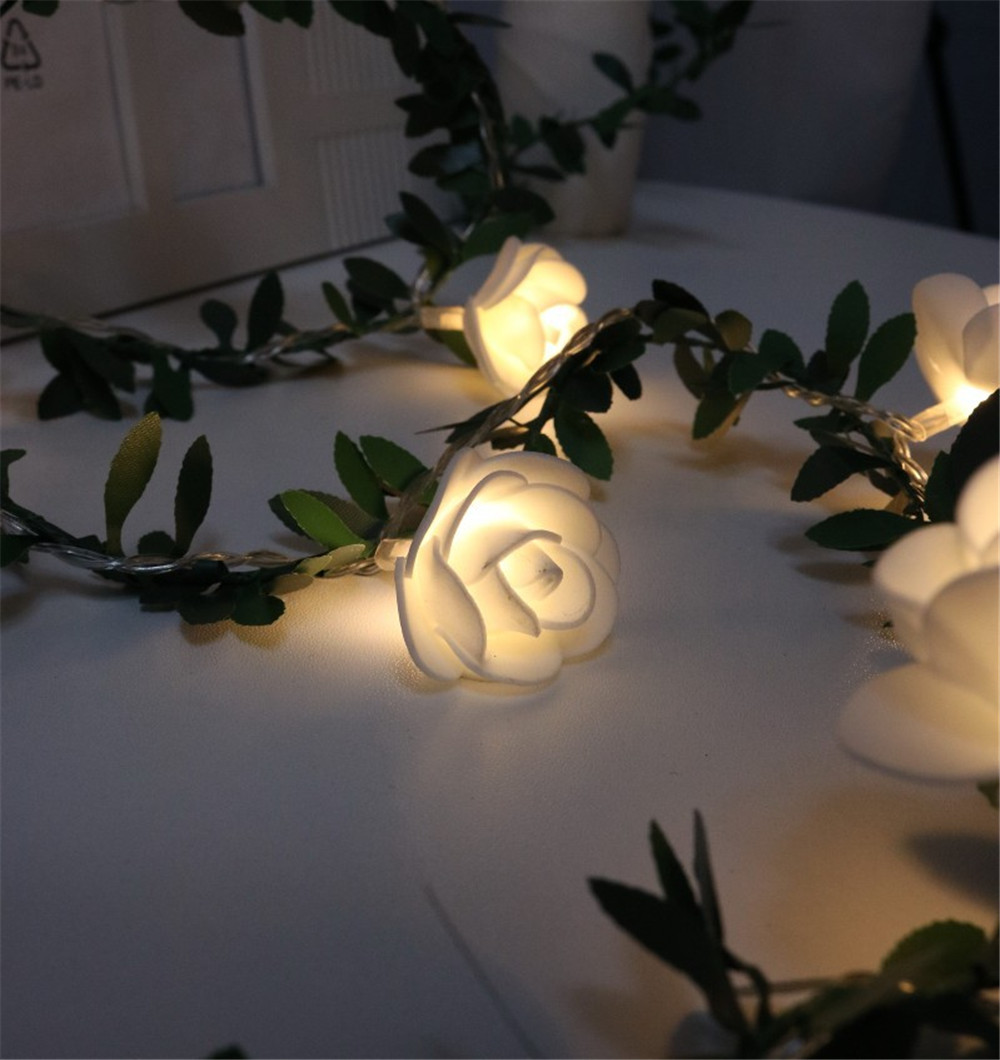 USB Powered 10/20/40leds Rose Flower LED Christmas Lights Holiday Lights Valentine Wedding Decoration Flower Bulbs LED Lamp