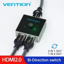 Tions HDMI Splitter Schalter HDMI 2,0 4K Bi Richtung Switcher 1x 2/2x1 Adapter 2 in 1 heraus Konverter für PS4 TV Box HDMI Switcher