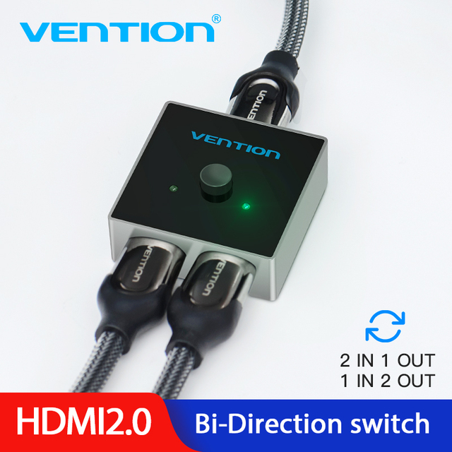 Vention HDMI Splitter Switch HDMI 2.0 4K Bi Direction Switcher 1x2/2x1 Adapter 2 in 1 out Converter for PS4 TV Box HDMI Switcher
