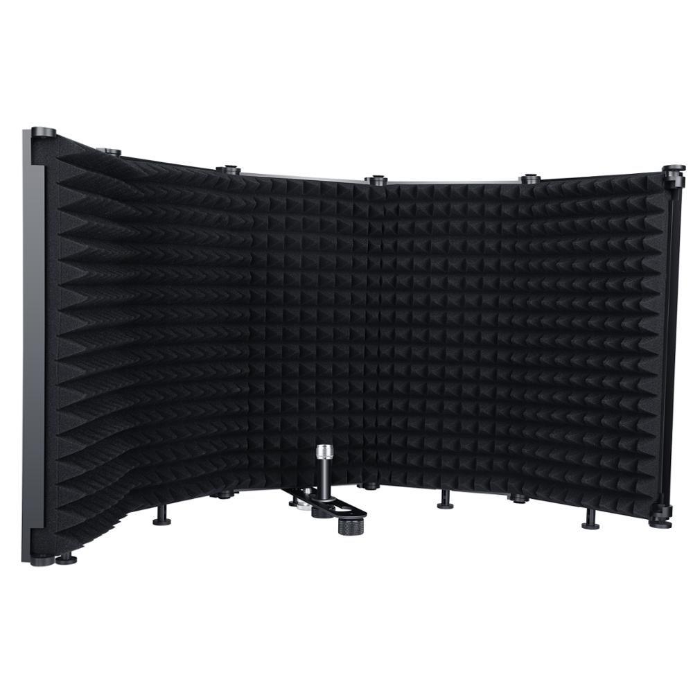 Microphone Isolation Shield 5-Panel Wind Screen Foldable 3/8