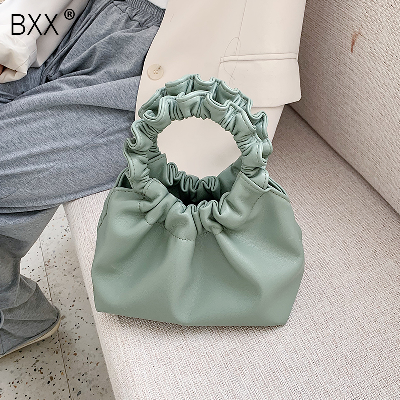 [BXX] Women Solid Color PU Leather Crossbody Bags For Women 2020 Spring Simple Female Shoulder Messenger Bag Lady Handbags HL340