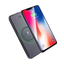10000mAh Qi Wireless Charger Power Bank External Battery Wireless Charging Powerbank For iPhone11 X 8 Samsung S10 Xiaomi Mi 9 oisle mini portable external battery charger battery case power bank for iphone x 11 7 8 6s xs 12 samsung s9 huawei p30 xiaomi 9