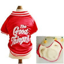 Coat for Dogs  Red Winter Dog Clothes Fleece Liner The Goods Things Teddy Jacket XS S M L XL
