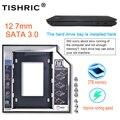 Пластиковый алюминиевый переходник Tishric Optibay 12,7 мм SATA 3,0 2,5 дюйма, Универсальный переходник для жесткого диска, DVD HDD для ноутбука, Cd, необычный...