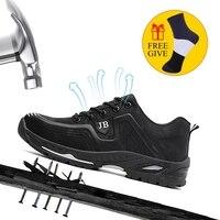 XZMDH/Лидер продаж; Прямая поставка; мужские и женские защитные ботинки; уличная модная мужская обувь; непромокаемые кроссовки с защитой от пр...