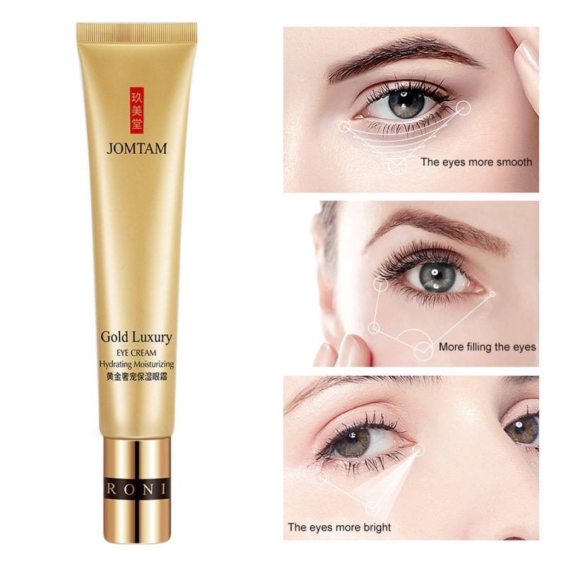 Gold Luxury Eye Cream Hydrating Nourishing Remove Dark Circles Bags Anti-drying Anti-Puffiness