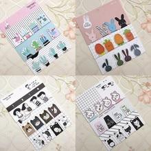 Забавная магнитная закладка в виде кота, животного, морковки, кактуса, повседневная жизнь, закладки для книг, черно-белые закладки для книг