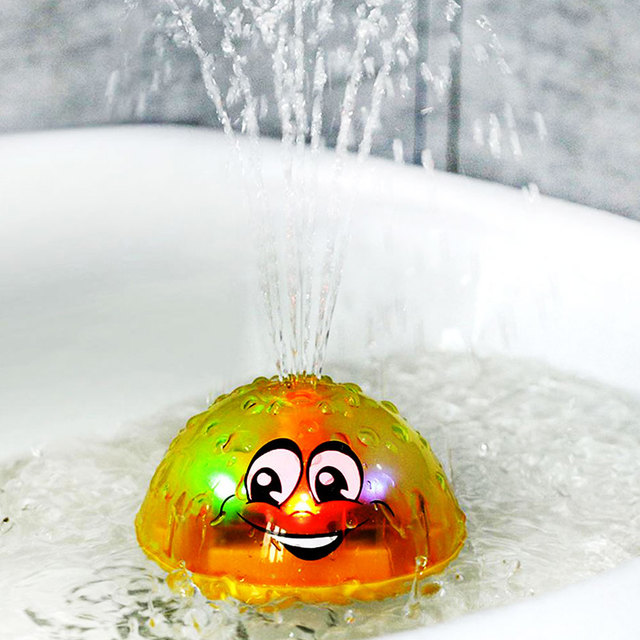 Children Bathroom Water Spray Bath Toys Electric Sprinkler Ball with Light Music Funny Infant Baby Water Play Ball Bathing Toys 1