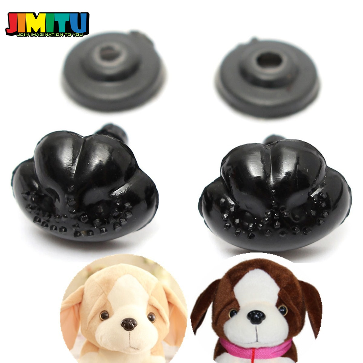 Animal 4 Per Pack 25mm Dog Craft Safety Noses