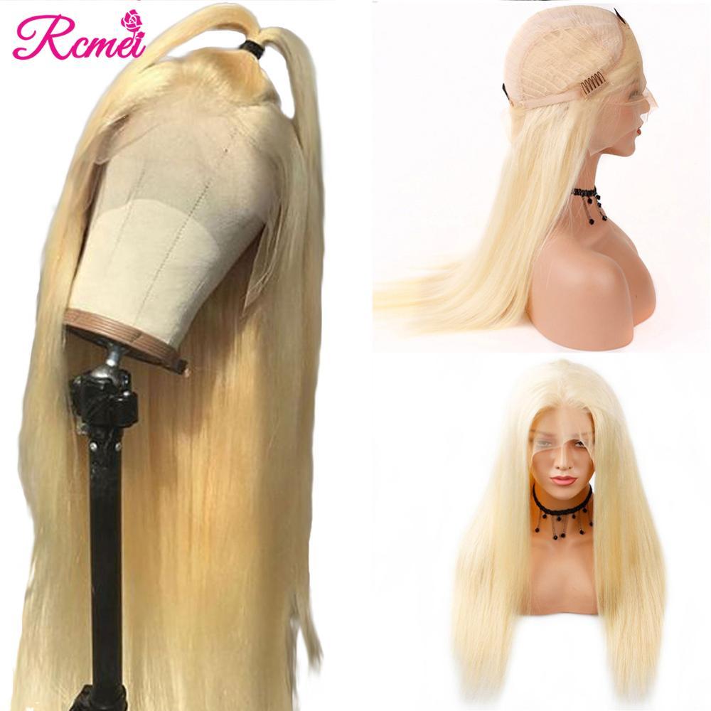 613 Loiro Dianteira Do Laço Perucas de Cabelo Humano Brasileiro Cabelo Liso 13*4 613 Transparente Lace Front Wigs Com Bebê cabelo Remy Cabelo