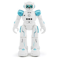 R11 Dancing Robot Walking Toy Remote Control Singing RC Led Kids Gift Gesture Control Intelligent(China)