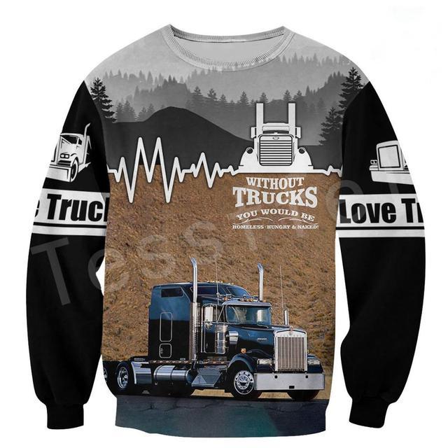 Фото пуловер для водителя грузовика спортивный костюм модный повседневный