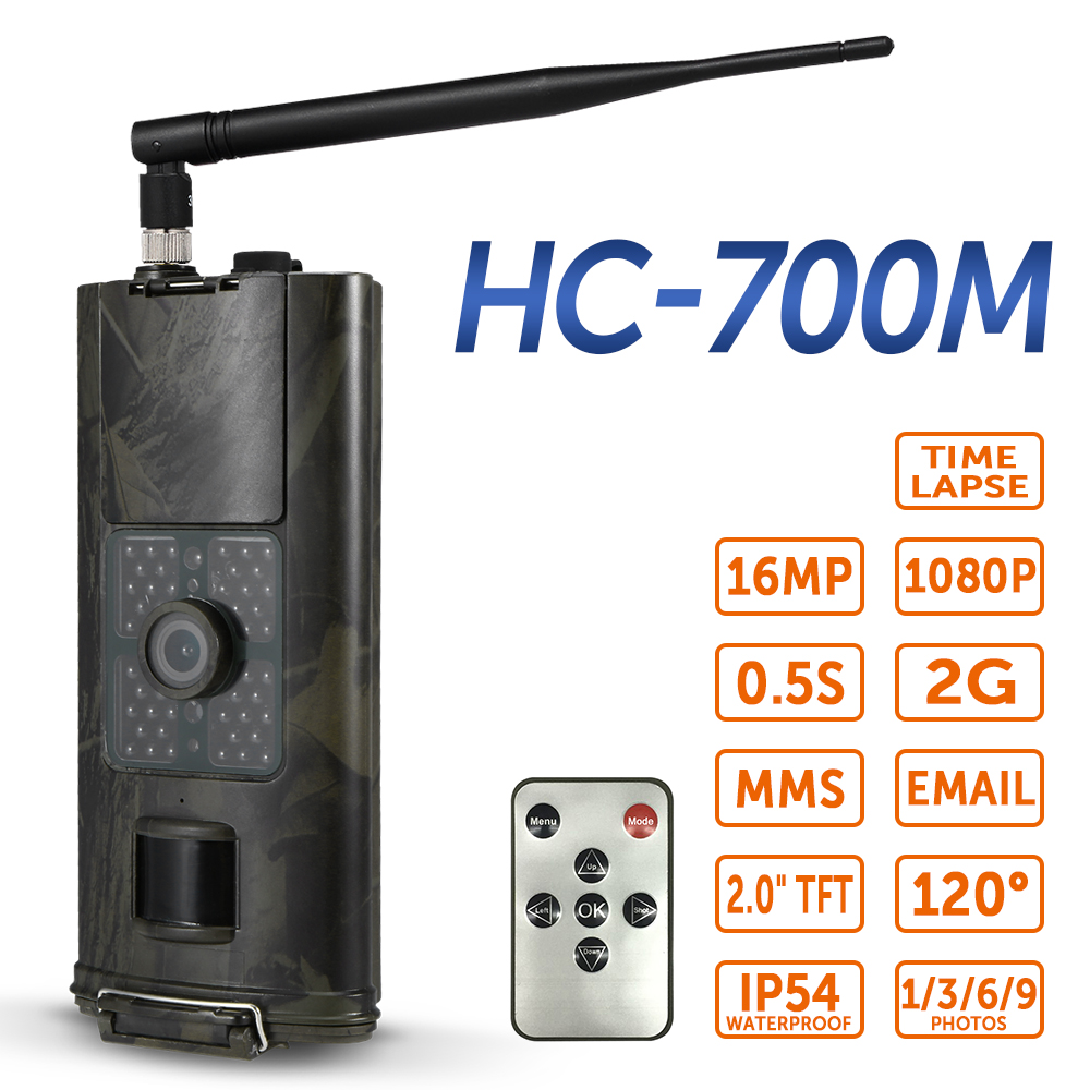 Hot New 16MP 1080P 3G SMS GSM Trail Camera Hunting Game Camera Outdoor Wildlife Scouting Camera with PIR Sensor Infrared Night V image