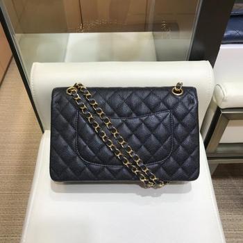 New high-end customized brand luxury handbag, single shoulder, hand-held slant straddle bag, cf255 caviar, cow skin bag