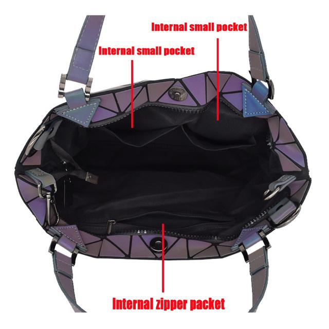 Luminous Geometric Bucket Bag