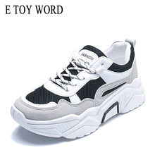 E TOY WORD women running shoes Breathable Mesh Platform Ladies Shoes Spring Autumn flats casual Chunky Sneakers Women